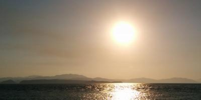 Picture of a sunset in the beach in Puntarenas