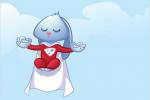 Varnish mascot meditating
